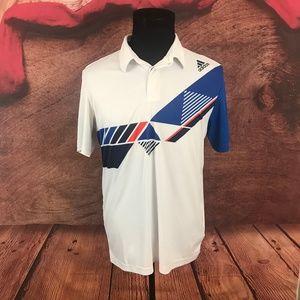 Adidas Climacool White Polo Shirt Large